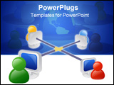 PowerPoint Template - Business networking icon.