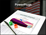 PowerPoint Template - investment strategy chart and set of dice with clipping path