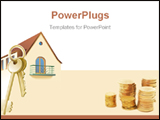 PowerPoint Template - House home keys real estate realty security. Illustration