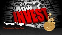 PowerPoint Template - Group of investment related 3D words