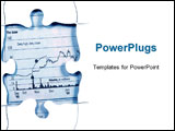 PowerPoint Template - puzzle with stock chart