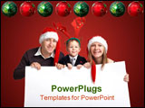 PowerPoint Template - Christmas family with banner