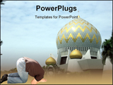 PowerPoint Template - An exterior view of a mosque in Kota Kinabalu