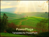 PowerPoint Template - campagna toscana, italy (significant grain, fine at smaller sizes)
