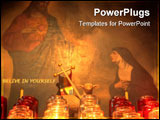 PowerPoint Template - Jesus illuminate the heart with spiritual candles