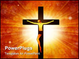 PowerPoint Template - Jesus Christ on a background of the sun and ornate