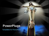 PowerPoint Template - Photo-composition of Jesus Christ dying on the cross.