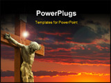 PowerPoint Template - a  picture of Jesus on the cross