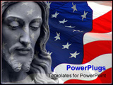 PowerPoint Template - Jesus on a flag background