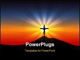 PowerPoint Template - Jesus Christ on the Cross Easter morning.