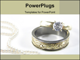 PowerPoint Template - Beautiful gold and diamond rings