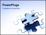 PowerPoint Template - Piece of jigsaw puzzle. Blank copy space