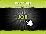PowerPoint Template - Conceptual illustration of job hunting on the internet.