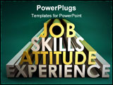 PowerPoint Template - Business Skills for a Job Career in 3d