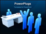 PowerPoint Template - Job Center - employers testing for employees, 3D concept