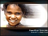 PowerPoint Template - Girl smiling with effects.