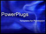 PowerPoint Template - close-up blue silky fabric