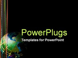 PowerPoint Template - numbers and globe