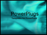 PowerPoint Template - close-up green silky fabric