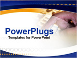 PowerPoint Template - pressing a kewboard button
