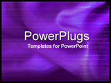 PowerPoint Template - close-up purple silky fabric