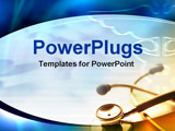PowerPoint Template - stethoscope with medical symbol