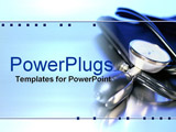 PowerPoint Template - stethoscope and arm pump