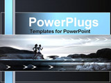 PowerPoint Template - two people running