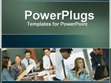 PowerPoint Template - people at a meeting and contributing ideas