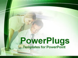 PowerPoint Template - two people working together