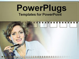 PowerPoint Template - lady with a