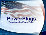 PowerPoint Template - US flag with star lining