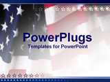 PowerPoint Template - close up of US flag with star lining