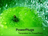 PowerPoint Template - apple splashing water