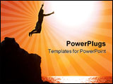 PowerPoint Template - jumping off the cliff