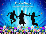 PowerPoint Template - A group of young happy friends outside