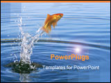 PowerPoint Template - Fish jumping out of the water