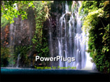 PowerPoint Template - a waterfalls in the jungle of iligan lanao del Norte Philippines