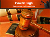 PowerPoint Template - Judges gavel on a pile of law books