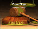 PowerPoint Template - Law concept with gavel and scales of justice