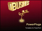 PowerPoint Template - 3d man showing key to business