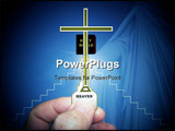 PowerPoint Template - Photo of a key in hand with steps, cross, and bible spotlighted.