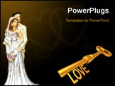 PowerPoint Template - the shot of wedding decoration on the cake