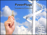 PowerPoint Template - A photo of a woman holding a key in the sunlight. Many metaphorical uses.