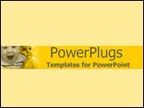 PowerPoint Template - Happy baby closeups on lemon yellow