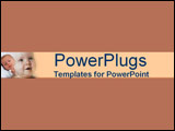 PowerPoint Template - Brown and eggshell montage of alert and sleepy bab