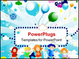 PowerPoint Template - abstract colorful design for kids; illustration clip-art