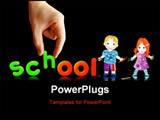 PowerPoint Template - back to school. colorful lettering on black background