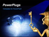 PowerPoint Template - a bulb on book representing the light of knowledge