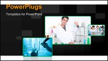 PowerPoint Template - portrait of a lab assistant